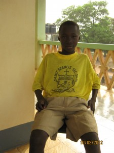 Mohamed - an enthusiastic student at St Francis School