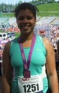 Teresa Kay after running the 2012 Sheffield Half Marathon