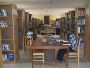 The well-stocked university library