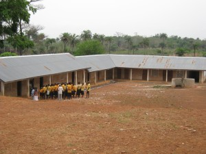 Morning assembly at Bombali School for the Blind at Panlap