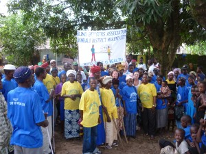 """The Makeni group of blind beggars whose motto is: """"Sight is Wealth"""""""
