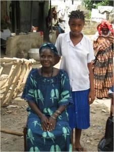 Kadiatu Kamara with her daughter Isha